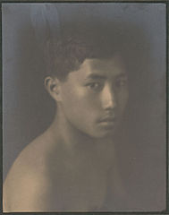 Portrait of Chinese-Hawaiian boy, titled 'The Fisher Boy' (front view) 1909.jpg