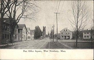 West Newbury, Massachusetts - Post Office Square, c. 1905