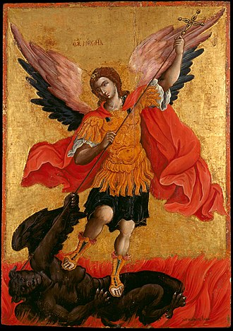 Theodore Poulakis - Image: Poulakis Theodoros The archangel Michael Google Art Project