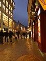 Praha, Staré Město, Na můstku, pohled na vánoční ulici.JPG
