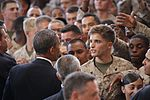 Pres. Obama to Marines- 'Our Marine Corps is the finest expeditionary force in the world' (Image 22 of 24) (9467927496).jpg