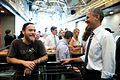 President Barack Obama talks to an employee at Taylor Gourmet.jpg