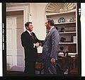 President Ronald Reagan, in the Oval Office, shaking hands with Republican senator Frank Murkowski of Alaska.jpg