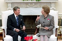 photograph of Thatcher and Reagan