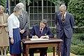 President Ronald Reagan signing S.J. Resolution 65.jpg