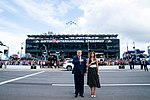 President Trump and the First Lady at the NASCAR Daytona 500 Race (49553102707).jpg