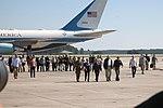 President Trump lands at Marine Corps Air Station Cherry Point 001.jpg