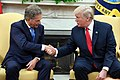 President of the United States Donald Trump & President of Finland Sauli Niinistö in the Oval Office, August 28, 2017.jpg