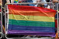 Pride in London 2016 - Love Wins banner on the parade route.png