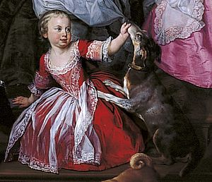 Prince Frederick of Great Britain - Frederick William as a toddler in 1751, before breeching