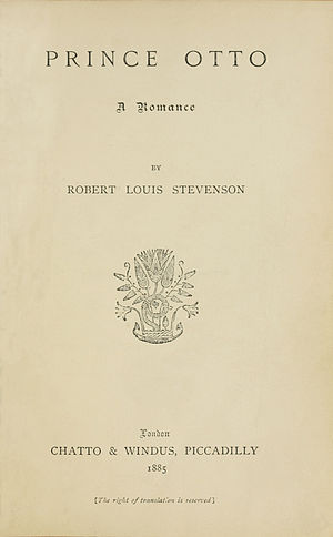 Prince Otto - Title page of first edition