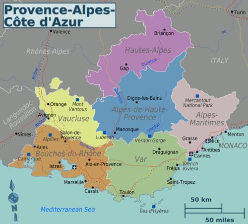 Francia Costa Azzurra Cartina Geografica.Provenza Alpi Costa Azzurra Wikivoyage Guida Turistica Di Viaggio