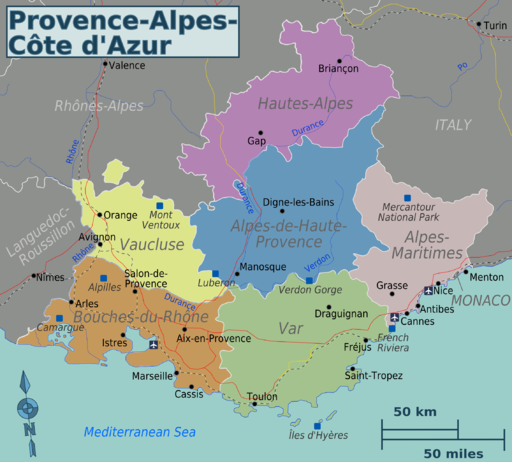 Provence-map