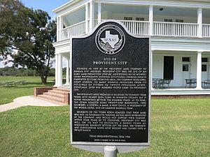 Provident City, Texas - Image: Provident City TX Marker