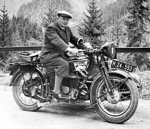 Puch - Motorcycle Puch 500 VL with sidecar Felber, built 1937