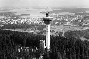 Puijo tower - Image: Puijo 1963 adjusted