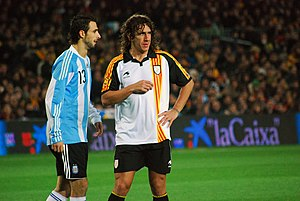 Carles Puyol - Puyol playing for Catalonia in a 2009 friendly match against Argentina at Camp Nou.
