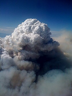 Pyrocumulus Cloud Station Fire 08312009 Aerial View.jpg