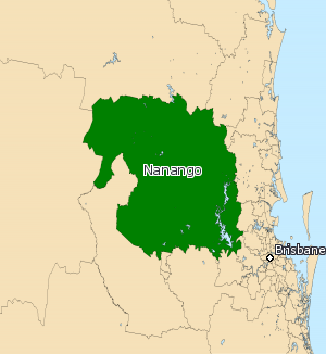 Electoral district of Nanango - Electoral map of Nanango 2008