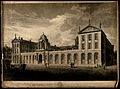 Queen's College, Oxford; south-east view. Aquatint with etch Wellcome V0014686.jpg