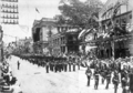 Queensland State Archives 2972 British and Queensland regiments march in the Boer War Celebration Parade in Queen Street Brisbane 1901.png