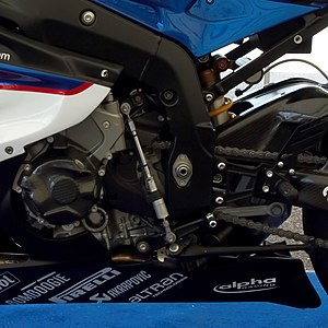 Quickshifter - Quickshifter on BMW S1000RR motorcycle.