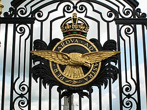 Cranwell - Gates of College Hall, RAF Cranwell