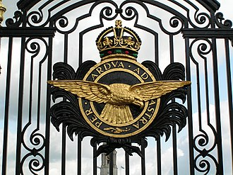 Badge of the Royal Air Force - Image: RAF Badge on Cranwell gates