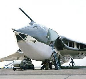 Handley Page Victor - Victor B.2 aircraft (XL158), at RAF Wittering, Cambridgeshire  undergoing pre-flight preparations