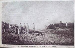 RML 8 inch howitzer - 8 inch RML Howizer, Lydd, c1903
