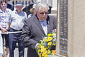 RSL NSW State President Don Rowe OAM laying the wreath at the Kangaroo March commemoration ceremony.jpg