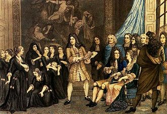 Maison royale de Saint-Louis - Racine puts on a repeat performance of Esther by the students of Saint-Cyr in the presence of Louis XIV and Madame de Maintenon.