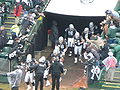 Raiders come out of tunnel at New England at Oakland 12-14-08.JPG