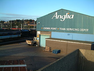 Anglia Railways - Norwich Crown Point depot in November 2001