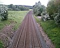 Railway through the Cheshire countryside - geograph.org.uk - 174488.jpg