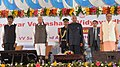 Ram Nath Kovind at the dedication of new campus of Amruita Institute of Engineering & Management Sciences (AIEMS) & Basaveshwara Vidya Vardhaka (BVV) Sangha's 111th Year celebration programme, at Bidadi, in Karnataka.jpg
