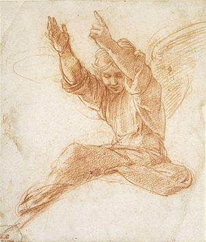 Creation of the World (Raphael) - Preparatory drawing by Raphael.
