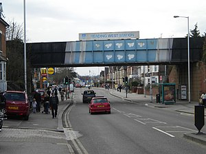 Oxford Road, Reading - Reading West Bridge looking westwards
