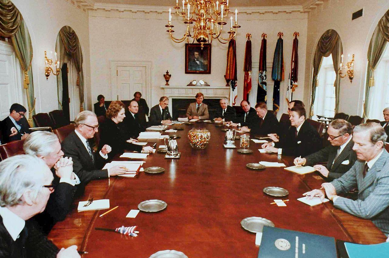 File:Reagan Thatcher Cabinet Talks