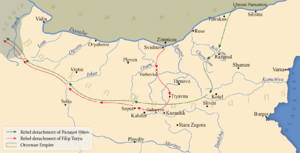 Panayot Hitov -  Actions of the rebel detachments of Panayot Hitov and Filip Totyu in 1867.