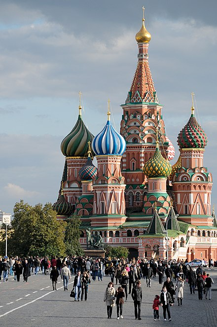 Saint Basil's Cathedral in Moscow, the masterpiece of Russian architecture RedSquare SaintBasile (pixinn.net).jpg