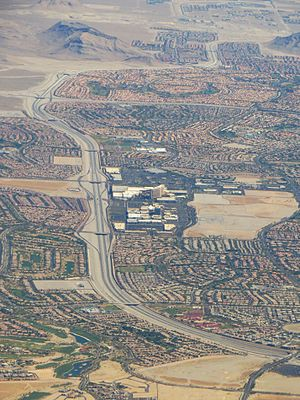 Downtown Summerlin - Downtown Summerlin in the center