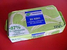 Burro a ridotto contenuto di colesterolo