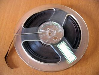 """Audio tape specifications - A seven-inch reel of ¼"""" tape"""