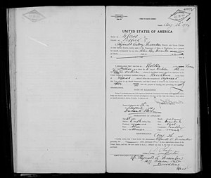 Reginald Fessenden - Image: Reginald Aubrey Fessenden application for United States passport 26AUG1914