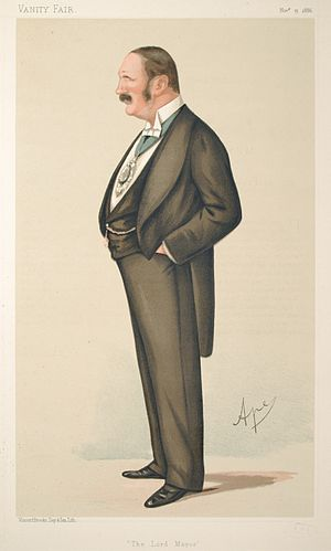 Reginald Hanson - Caricature by Ape published in Vanity Fair in 1886.