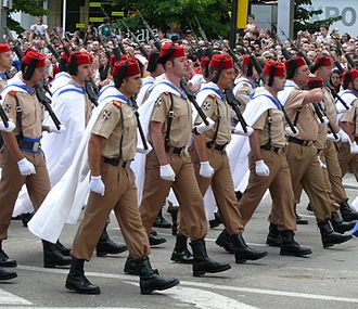 Regulares - Regulares nº54 of Ceuta marching during the Desfile de las Fuerzas Armadas in Madrid in 2008.
