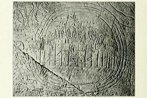 Kadesh (Syria) - Egyptian relief dating to Ramesses II's reign, depicting Kadesh garrisoned by Hittites and surrounded by the Orontes River.