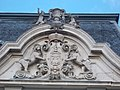 Relief of CoA with lions, Festetics Palace main building west facade, Keszthely, 2016 Hungary.jpg