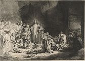 "Rembrandt - The Little Children Being Brought to Jesus (""The 100 Guilder Print"") - WGA19060.jpg"